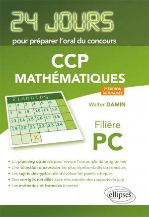 Mathématiques 24 jours pour préparer l'oral du concours CCP-ellipses-9782340022805
