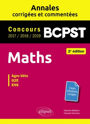 Maths BCPST Concours Agro-Véto, G2E, ENS - ellipses - 9782340023888