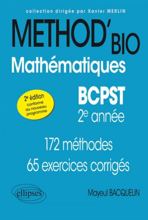 Mathématiques BCPST -2e année-ellipses-9782340028203