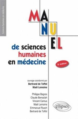 Manuel de sciences humaines en médecine - ellipses - 9782729878658