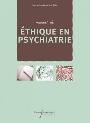 Manuel d'éthique en psychiatrie-presses universitaires francois rabelais-9782869067073