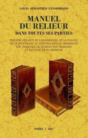 Manuel du relieur-maxtor france-9791020802071