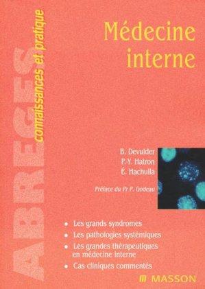 Médecine interne - elsevier / masson - 9782225856488