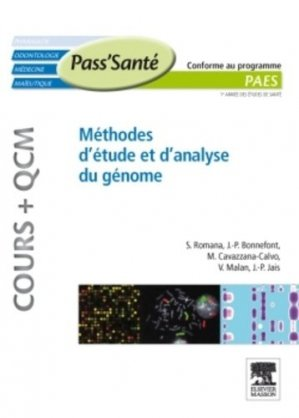 Méthodes d'étude et d'analyse du génome - elsevier / masson - 9782294711688