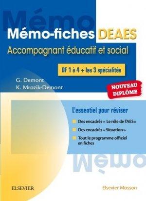 Mémo-fiches DEAES - Diplôme d'Etat d'Accompagnant Educatif et Social-elsevier / masson-9782294753855
