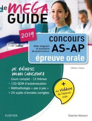 Méga Guide Oral AS/AP 2019 Concours Aide-soignant et Auxiliaire de puériculture-elsevier / masson-9782294763380