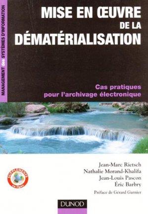 Mise en oeuvre de la dématérialisation-dunod-9782100545339