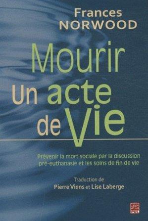 Mourir : Un acte de Vie-presses universitaires de laval-9782763791029
