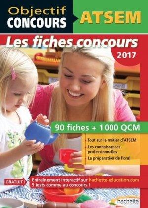Objectif Concours - ATSEM 90 Fiches 1000 QCM - Catégorie C-hachette-9782017012078