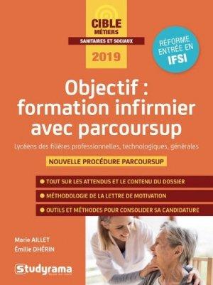 Objectif : formation infirmier avec Parcoursup - studyrama - 9782759039586