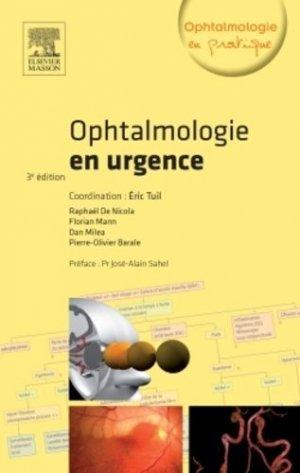Ophtalmologie en urgence-elsevier / masson-9782294734182