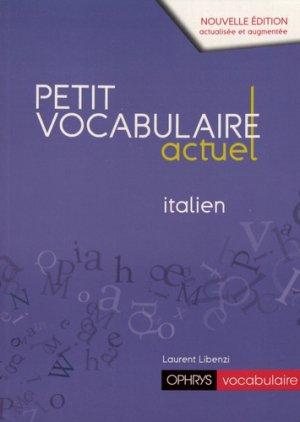 Petit vocabulaire actuel italien-ophrys-9782708015432