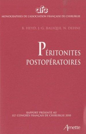Péritonites postopératoires - arnette - 9782718412399
