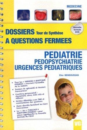 Pédiatrie - Pédopsychiatrie - Urgences pédiatriques - vernazobres grego - 9782818304242