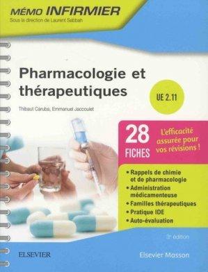 Pharmacologie et thérapeutiques - elsevier / masson - 9782294760594