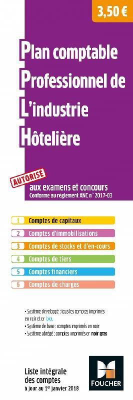 Plan comptable professionnel de l'industrie hôtelière-foucher-9782216153329