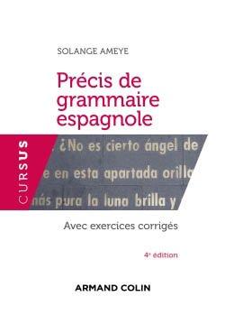 Précis de grammaire espagnole - armand colin - 9782200621957
