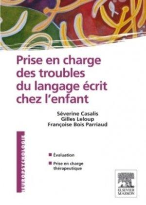 Prise en charge des troubles du langage écrit chez l'enfant-elsevier / masson-9782294711299