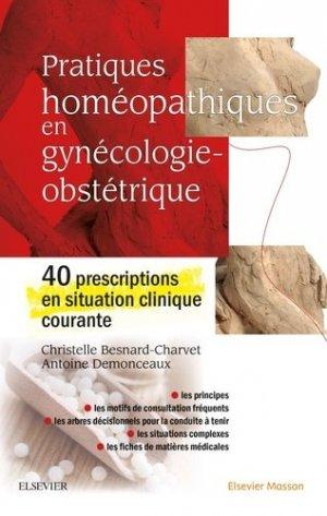 Pratiques homéopathiques en gynécologie-obstétrique-elsevier / masson-9782294765346