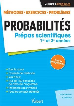 Probabilités - Classes préparatoires scientifiques.-vuibert-9782311405279