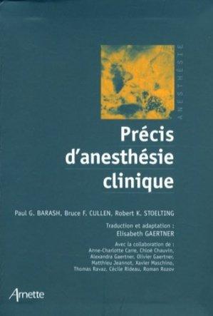Précis d'anesthésie clinique - arnette - 9782718411743