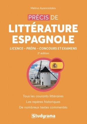 Précis de littérature espagnole-studyrama-9782759040070