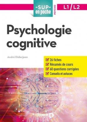 Psychologie cognitive-de boeck-9782807322349