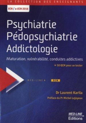 Psychiatrie Pédopsychiatrie Addictologie-med-line-9782846781442
