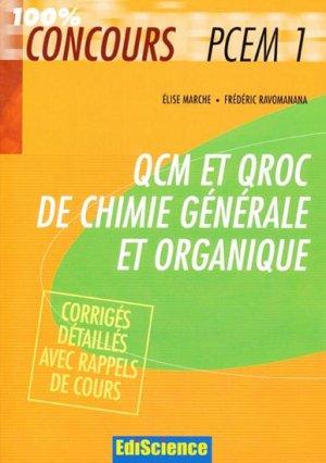 QCM et QROC de chimie générale et organique-ediscience-9782100502332