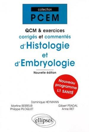QCM et exercices corrigés et commentés d'histologie et d'embryologie-ellipses-9782729851873