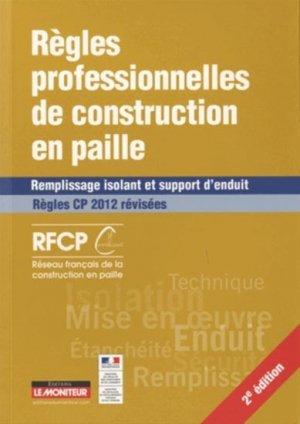 Règles professionnelles de construction en paille-le moniteur-9782281116830
