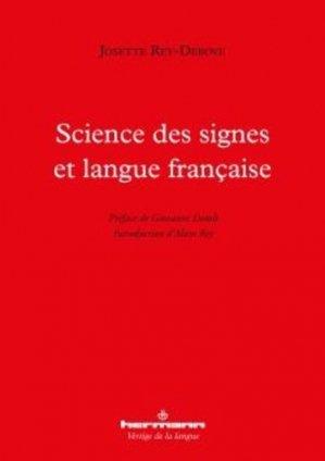 Science des signes et langue française - hermann - 9791037000866