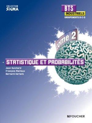Sigma Statistique et probabilités Tome 2 - foucher - 9782216127429