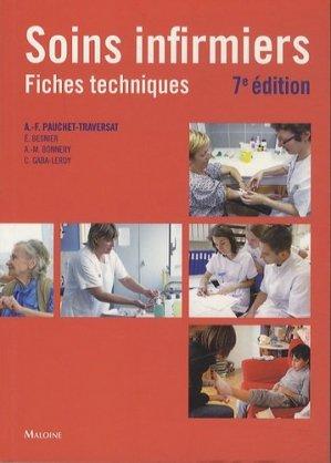 Soins infirmiers fiches techniques-maloine-9782224033477