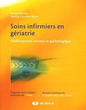 Soins infirmiers en gériatrie - de boeck superieur - 9782804146306
