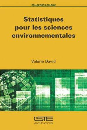 Statistiques pour les sciences environnementales-iste-9781784055318