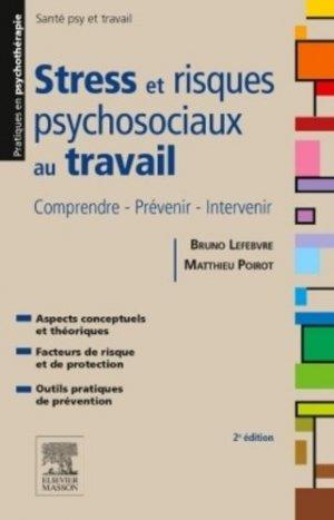 Stress et risques psychosociaux au travail - elsevier / masson - 9782294744662