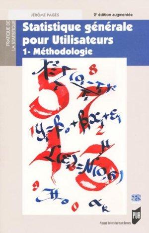 Statistique générale pour utilisateurs 1- Méthodologie-presses universitaires de rennes-9782753512153