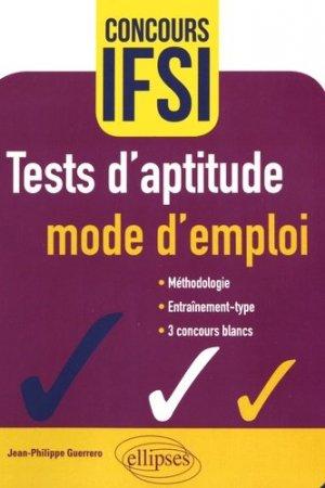 Tests d'aptitude : mode d'emploi-ellipses-9782340016378