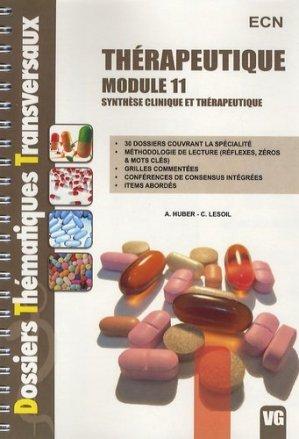Thérapeutique Module 11-vernazobres grego-9782818303580