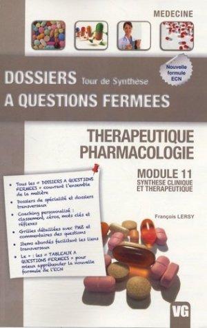 Thérapeutique - Pharmacologie - vernazobres grego - 9782818304594
