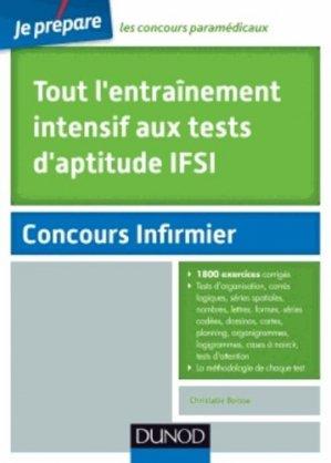 Tout l'entraînement intensif aux tests d'aptitude IFSI - dunod - 9782100705160