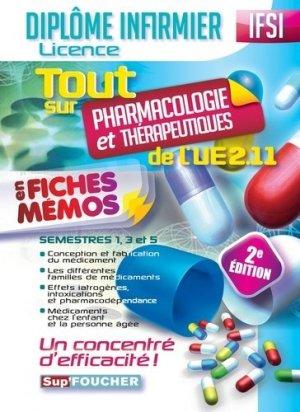 Tout sur Pharmacologie et Thérapeutiques de l'UE 2.11 en fiches mémos-foucher-9782216133222