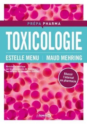 Toxicologie-de boeck superieur-9782804193935