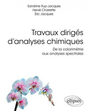 Travaux dirigés d'analyses chimiques - ellipses - 9782340028142