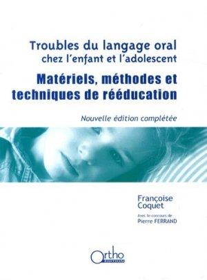 Troubles du langage oral chez l'enfant et l'adolescent-ortho -9782362350467