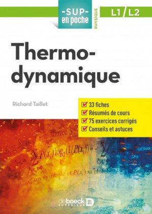 Tthermodynamique-de boeck superieur-9782807307650