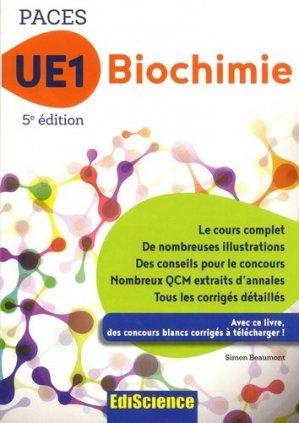 UE1 Biochimie - ediscience - 9782100763344