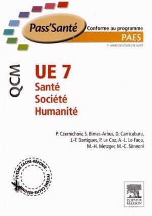 UE 7 - Santé - Société - Humanité-elsevier / masson-9782294711244