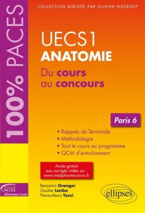 UECS1 Anatomie - Paris 6-ellipses-9782340025479